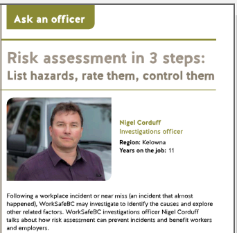 Risk assessement in 3 steps